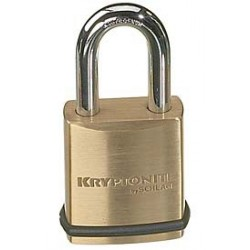 KS23 Schlage Portable Security Brass Padlock - 1-25/32""