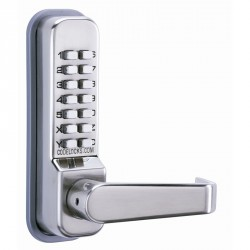 "Codelocks CL400 Series Mechanical Lock Door Lever, For Door Thickness-1-3/8"" - 2-3/8"""