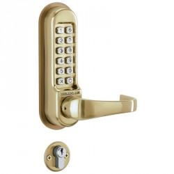 "Codelocks CL500 Series Mechanical Heavy Duty Lock Door Lever, For Door Thickness-1-3/8"" - 2-3/8"""