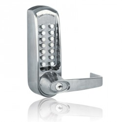 "Codelocks CL600 Series Push Button Mechanical Heavy Duty Door Lock Lever, For Door Thickness-1-3/8"" - 2-3/8"""