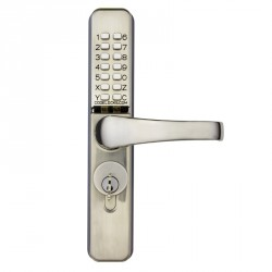 "Codelocks CL460 Mechanical Lock for Narrow Stile Doors,Finish- Stainless Steel, For Door Thickness-1-3/4"" - 2-3/16"""