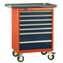 Genius Tools TS-467P 7 Drawers Roller Cabinet