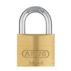 Abus 55MB/40 B KAx10 Brass Shackle, Keyed Alike