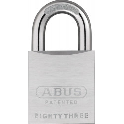 Abus 83/50 Chrome Plated Brass Rekeyable Padlock