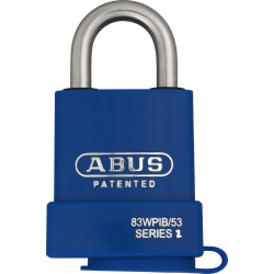 Abus 83WP-IB/53 Chrome Plated Brass Rekeyable Padlock