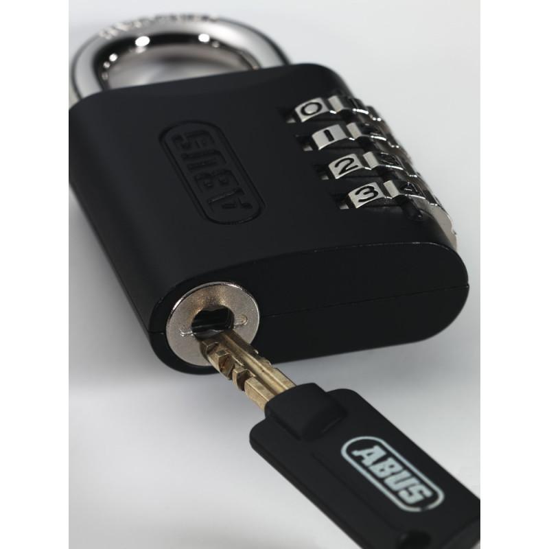 e07424db04bf Abus 158/45 KC B Zinc Die Cast Side 4-Dial Resettable Key Control Combo Lock