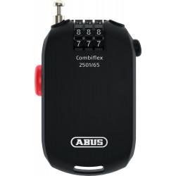 Abus 2501/2502 CombiFlex 3-Dial Retractable Cable Lock, Compact
