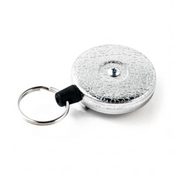 Key-Bak 0483-821 Original Retractable Key Chain, Textured Chrome