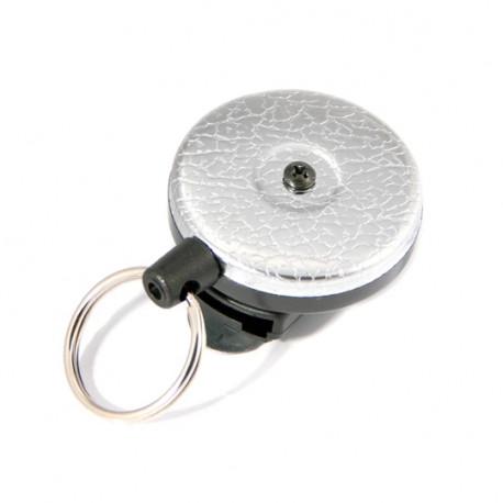 Key-Bak 0484-821 Original Retractable Key Chain, Textured Chrome