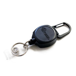 Key-Bak 0KB1-0A21 Sidekick Retractable Key Chain & Badge Reel with Carabiner, Key Ring and Twist-Free Clear I.D. Badge Holder
