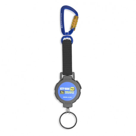 Key-Bak 0KB6 Retractable Tool Lanyard for Dropped Object Prevention with Carabiner Attachment