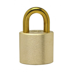 Ranger Lock RLBR-1 1'' Brass Shackle, Solid Brass Padlock