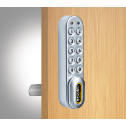 "Codelocks KL1060 Series KL1000 Netcode-Kit with Spindle to fit 1/4"" - Thick Door, Finish-Silver Grey"