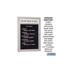 Salsbury 1024 Marquee Directory - Aluminum
