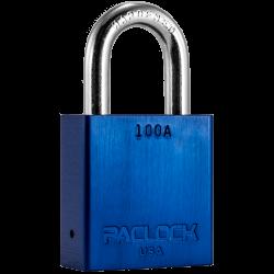 "Paclock 100A Aluminum Rekeyable Padlock w/ 5/16"" Shackle Diameter, Shackle Material - Hardened Steel"