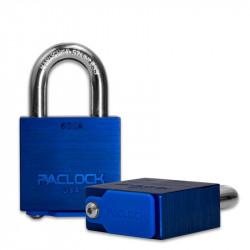 "Paclock 600A Aluminum Rekeyable Padlock w/ 7/16"" Shackle Diameter, Shackle Material - Hardened Steel"