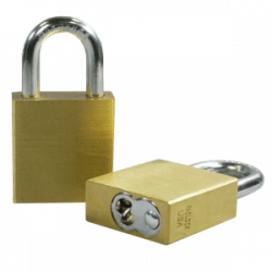 Paclock 95-IC Brass 5, 6, & 7-Pin SFIC Compatible Padlock w/ 1/4? Shackle Diameter,