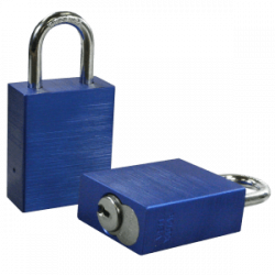 Paclock LFIC-Y6 Aluminum 6-Pin Padlock, Compatible w/ Yale and Medeco