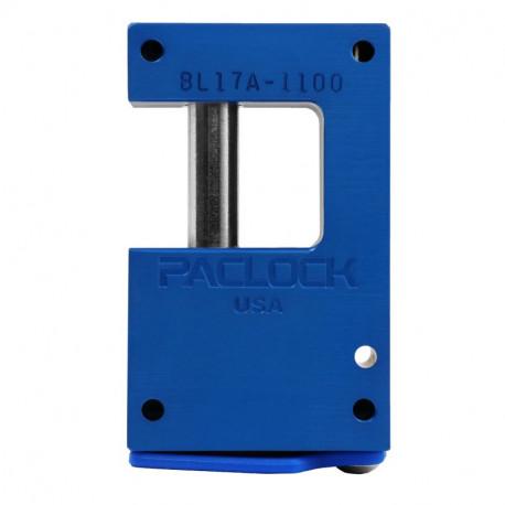 "Paclock LFIC-Y7-BL17A-1100 Aluminum 6-Pin Padlock w/ 13/32"" Shackle Diameter, Compatible w/ 7-Pin Yale"