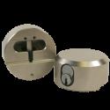 "Paclock LFIC-M32 6-Pin Padlock w/ 13/32"" Shackle Diameter, Shackle Material - Steel, Compatible w/ 6-Pin Medeco"