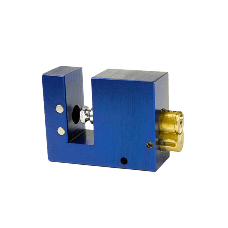"Paclock LFIC-M32-BL16A-600 Aluminum 6-Pin Padlock w/ 13/32"" Shackle Diameter, Compatible w/ 6-Pin Medeco"
