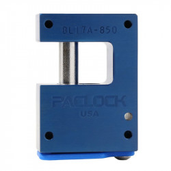 "Paclock LFIC-M32-BL16A-850 Aluminum 6-Pin Padlock w/ 13/32"" Shackle Diameter, Compatible w/ 6-Pin Medeco"