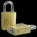 "Paclock LFIC-COR Brass 6-Pin Padlock, Shackle Material - Hardened Steel, Shackle Spread Inside - 25/32"", Compatible w/ 6-Pin Corbin Russwin"