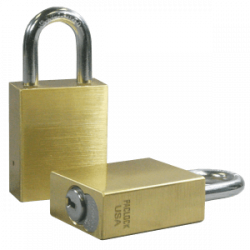 Paclock FSIC Brass Padlock, Compatible w/ 6-Pin Schlage