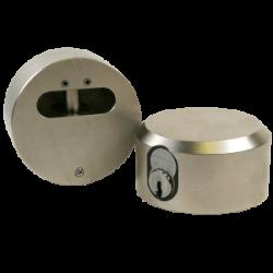 """Paclock FSIC-2173 Hardened Steel Padlock  w/ 13/32"""" Shackle Diameter, Compatible w/ 6-Pin Corbin Schlage"""
