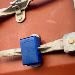 Paclock TL82A Aluminum Hidden Shackle Rekeyable Transportation Padlock