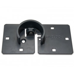 Paclock PL810 Universal Steel Shrouded Hasp for Hockey-Pucks w/ 6 o'Clock Key Opening Position