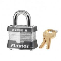 "Master Lock 3, 330-231, 3KA, No. 3 Laminated Steel Padlock 1-9/16"" (40mm), Shackle - Hardened Steel, 2"" (51mm)"