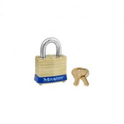 """Master Lock 4, 331-260, 4ka, Non-Rekeyable Laminated Brass Pin Tumbler Padlock 1-9/16"""" (40mm)"""