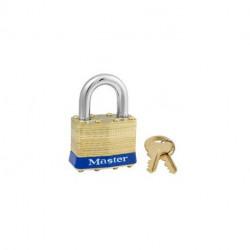 """Master Lock 2, 332-836, 2ka, Non-Rekeyable Laminated Brass Pin Tumbler Padlock 1-3/4"""" (44mm)"""