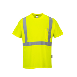 Portwest S190 Hi-Vis Pocket T-Shirt