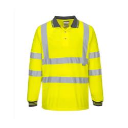 Portwest S277 Hi-Vis Polo Shirt  L/S