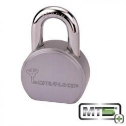 "MUL-T-Lock TSR25 TSR Round Body Padlock(1"" Clearance) (4 Chamber), Keyway - MT5+"