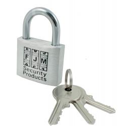 """FJM Security BP150A-ALUM 1.5"""" Padlock Aluminum Padlock Keyed Alike"""