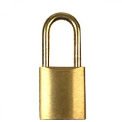 "FJM Security B100-ASP 1"" Padlock,Keyed Alike,Brass Shackle"