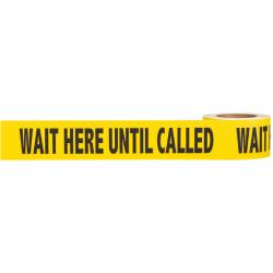 "Mutual Industries 17810-9141 Social Distancing Warning ANTI-SKID Floor Tape Black/Yellow, Size-3"" x 54'"