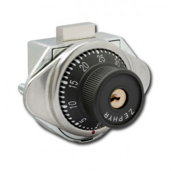 Zephyr S970 Built-In Combination Lock, Dead Bolt, Sideways Dial for Hinged Lockers