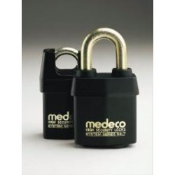 "54*715 Medeco No. 54 High Security Indoor/Outdoor Padlock with 7/16"" Shackle Diameter, Key-In-Knob Cylinder"