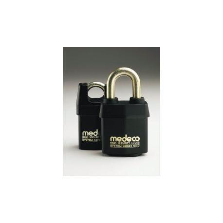 "Medeco 54715  High Security Indoor / Outdoor Padlock with 7/16"" Shackle Diameter, Key-In-Knob Cylinder"