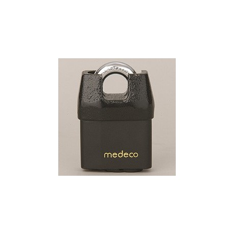 """54*625 Medeco No. 54 High Security Shrouded Padlock with 5/16"""" Shackle Diameter, 6 Pin LFIC Cylinder"""