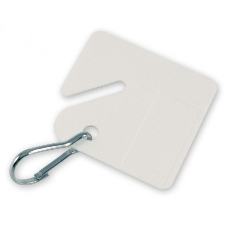 259 Lucky Line Numbered Square Slotted Cabinet Tags - White