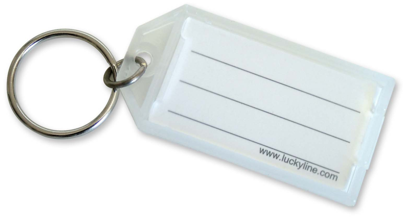 White Key Tag >> 605 Lucky Line Key Tag With Split Ring