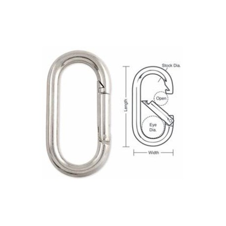 A510C Tough Links Oval Interlocking Carabiner Snaps