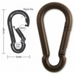 A515 A516 A517 A518 Tough Links Interlocking Carabiner Snaps, Black