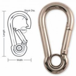 A542 A543 A544 A545 Tough Links Stainless Interlocking Carabiner Snaps, with Eyelet
