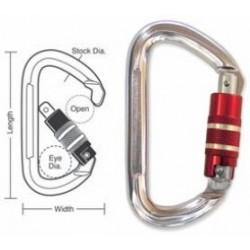 A573 Tough Links Locking Spring Carabiner Snaps, Twist Lock